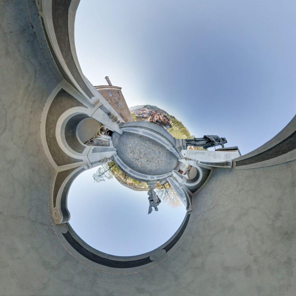 Virtuální prohlídka státního zámku Český Krumlov - fotografování virtuálních prohlídek